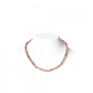Pink Rose Quartz Necklace